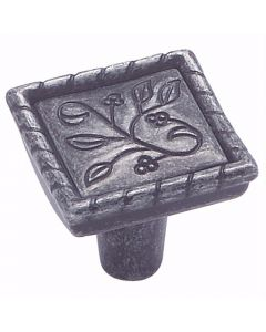 Wrought Iron Dark Vineyard Knob