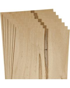 Veneer Hobby Packs, 12 Square Feet