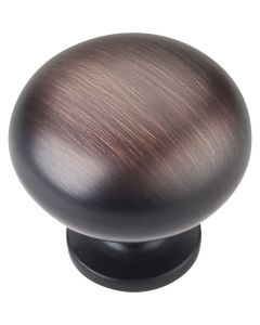 Brushed Oil Rubbed Bronze Geneva Cabinet Knob 1-1/4'' D