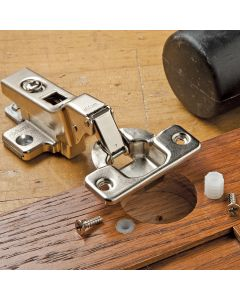 Fix or replace worn or missing 35mm European hinge screws for a tighter fit