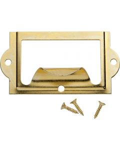47331 - Brass Card Holder with Pull