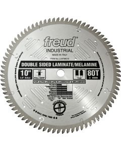 "Freud LU97M010 10"" x 80T Industrial Double Sided Laminate/Melamine Blade"