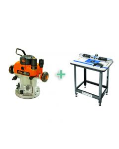 Rockler High Pressure Laminate Router Table Package with Triton Plunge Router, Steel Stand and 4-Piece Accessory Kit