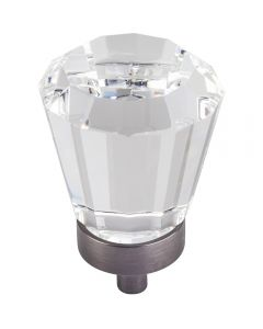 Brushed Pewter Harlow Glass Cabinet Knob 1-1/4'' D