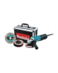 Makita 9557PBX1 4-1/2'' Angle Grinder with Accessories and Case