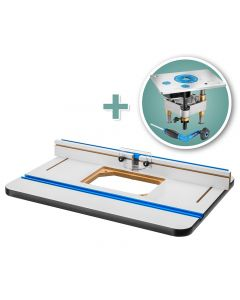 Rockler High Pressure Laminate Router Table Top, Fence & Pro Lift Router Lift