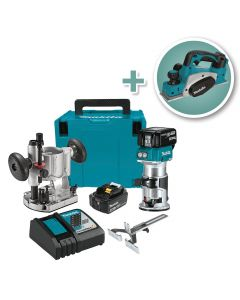 Makita 18V Cordless Lithium-Ion Compact Router Kit with 3-1/4'' Planer