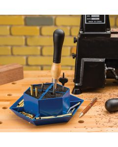 Bristles won't scratch or damage tools, and can be removed from the tray for easy cleaning