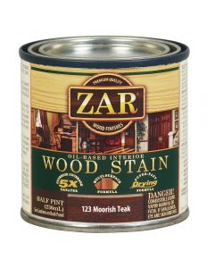 ZAR® Oil-Based Wood Stain, 123 Moorish Teak, Half-Pint