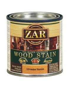 ZAR® Oil-Based Wood Stain, 129 Amber Varnish, Half-Pint