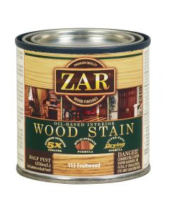 ZAR® Oil-Based Wood Stain, 113 Fruitwood, Half-Pint
