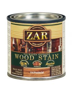 ZAR® Oil-Based Wood Stain, 114 Provincial, Half-Pint