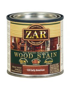 ZAR® Oil-Based Wood Stain, 128 Early American, Half-Pint