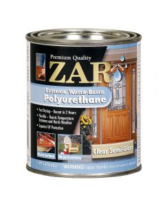 ZAR® Exterior Water-Based Polyurethane, Semi-Gloss, Pint