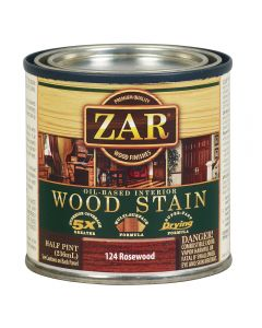 ZAR® Oil-Based Wood Stain, 124 Rosewood, Half-Pint