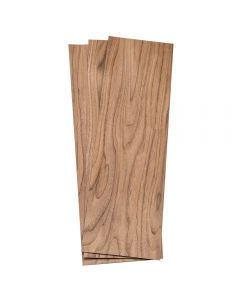 Walnut Veneer, Pack of 3 Sq. Ft., 4-1/2'' to 7-1/2'' x 24'' x 1/16'' Thick