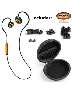 Orange ISOtunes Pro Noise-Isolating Bluetooth® Earbuds, 27 dB NRR