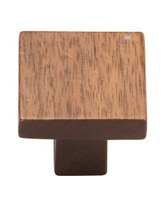 Walnut Square Knob, 1 3/8""