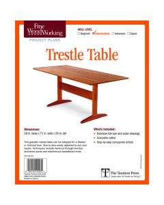 Trestle Table Project, Printed Plan