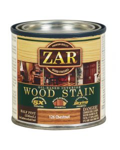 ZAR® Oil-Based Wood Stain, 126 Chestnut, Half-Pint