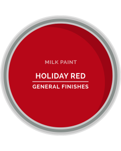 General Finishes Holiday Red Milk Paint, Pint