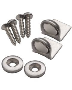 Angle-Mount Stainless Steel Magnetic Catch, 10 lb. Hold