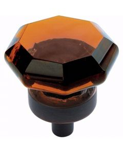 Amber Glass / Oil-Rubbed Bronze Traditional Classics Knob