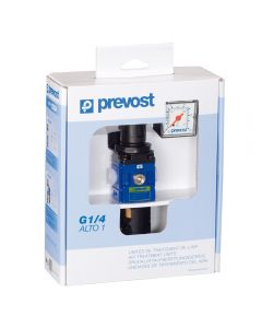 Prevost Small Regulator/Filter with Gauge and Wall Bracket, 1/4'' NPT