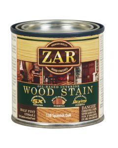 ZAR® Oil-Based Wood Stain, 138 Spanish Oak, Half-Pint