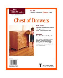 Chest of Drawers Project, Printed Plan