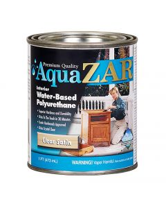 Aqua ZAR® Water-Based Polyurethane, Satin, Pint
