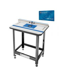 Rockler High Pressure Laminate Router Table, Fence, Stand and Phenolic Plate With FREE $100 Gift Card