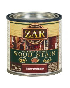 ZAR® Oil-Based Wood Stain, 118 Dark Mahogany, Half-Pint