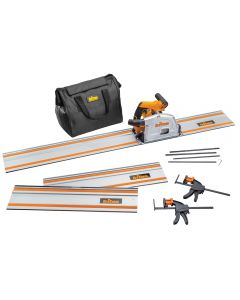 Triton TTS1400 Track Saw with Track Pack, Clamps and Bag