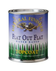General Finishes Flat-Out Flat Water-Based Topcoat, Pint