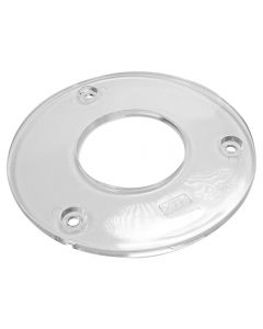Clear Sub-Base with 2-1/2'' Hole for Makita RD1101, RF1101 and RP1101 Routers