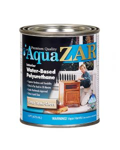 Aqua ZAR® Water-Based Polyurethane, Semi-Gloss, Pint