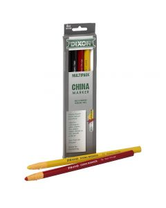 Dixon China Markers make beautiful, bold strokes on almost any porous or non-porous surface, including hard-to-mark surfaces like glass, plastic, film, paper, metal, and rubber.