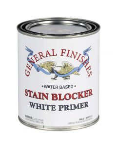 Stain Blocker is a revolutionarywater-based white primer that excels at protecting pigmented finishes from bleed-through ofstain, dyeand wood tannins.