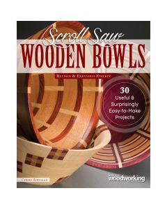 "Cover of the book ""Scroll Saw Wooden Bowls, Revised & Expanded Edition"" by Carole Rothman."