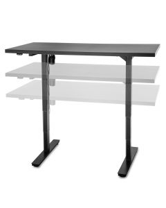 Get many times the use out of the same amount of floor space with this adjustable height workstation base!