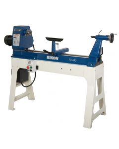 20 In. x 37 In. variable speed lathe #70-450 offers the largest bowl and spindle capacities of the professional lathes.