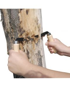 Timber Tuff's 5'' Straight Draw Shave is the must-have tool for debarking logs, firewood, fence posts and more.