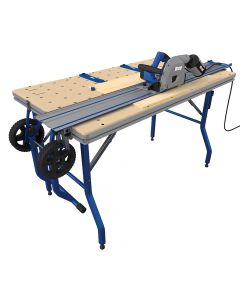 Project Table enhances cutting capabilities by supporting and precisely positioning materials for repeatable cuts
