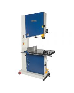 24 In. Bandsaw #10-385 is a machine on steroids, designed with over-sized features to take the demands of cutting through thick, dense and large materials.