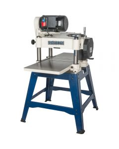 15 In. planer #23-150 has a powerful 3 HP motor driving a traditional, 3-row cutterhead with 3 high speed steel, single edge straight knives.