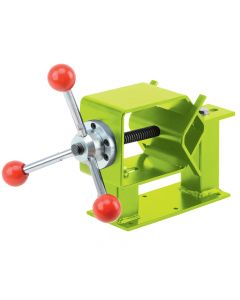 Firmly holds logs from 1.4'' to 4'' in diameter while you cut, debark, shape, notch, tenon or drill.