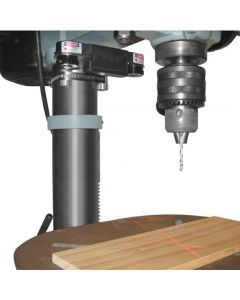 Wixey's WL133 Drill Press Laser projects a thin set of crosshairs to show the precise point where the drill bit will contact the workpiece.