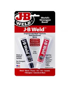 J-B Weld Original Cold-Weld two-part epoxy provides strong, lasting repairs on metals and numerous other materials.