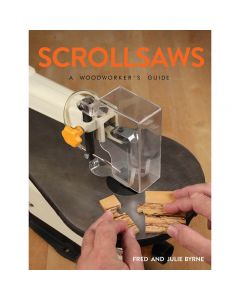 "Cover of the book Scrollsaws - A Woodworkers Guide"" by Fred and Julie Byrne."